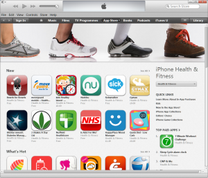 iTunes health apps