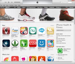 iTunes health apps