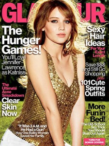Jennifer Lawrence on the cover of Glamour magazine