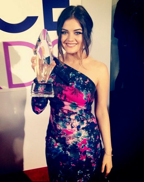 Lucy Hale winning Peopleschoice 2014