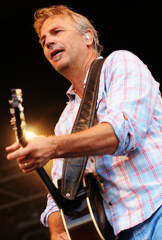 Kevin Costner on stage in 2010