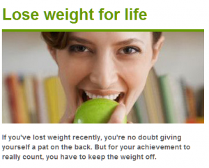NHS lose weight for life