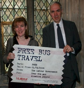 Nick Palmer, Ruth Kelly and Bus Pass
