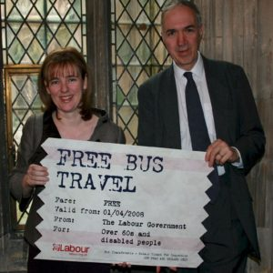 Nick Palmer, Ruth Kelly and Bus Pass