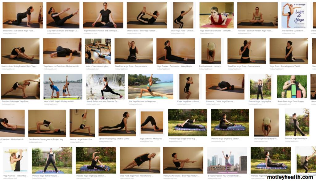 yoga poses from motleyhealth