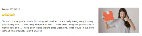 Sure Slim Susan testimonial