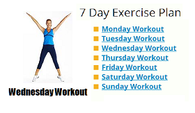 Weekly Exercise Plan For Fitness And Weight Loss At Home
