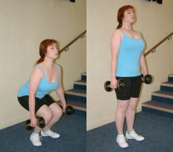 deadlift with dumbbells