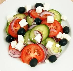 Mediterranean diet plate