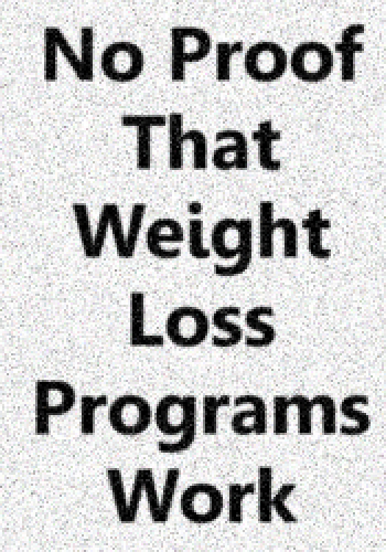 No Proof That Weight Loss Programs Work