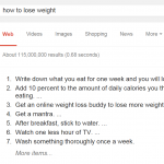 Dont ask Google how to lose weight