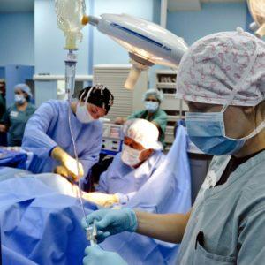 healthcare workers in theatre
