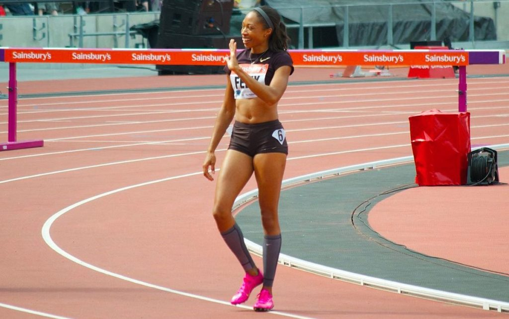 Allyson Felix London 2013, Photo by Richard Phipps