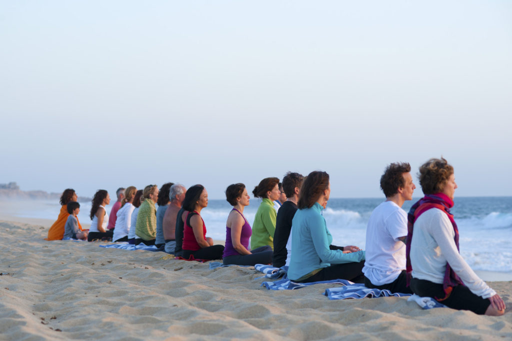 Beach Meditation Sunset
