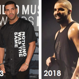 Drake weight and muscle gain 2013 and 2018