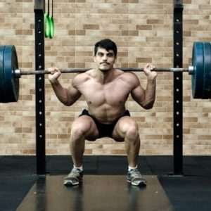weight training squat exercise