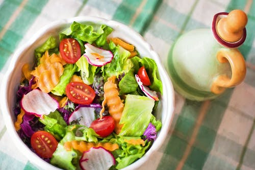 healthy keto salad meal