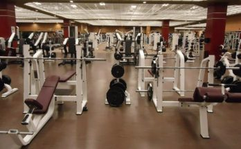 empty weight training gym