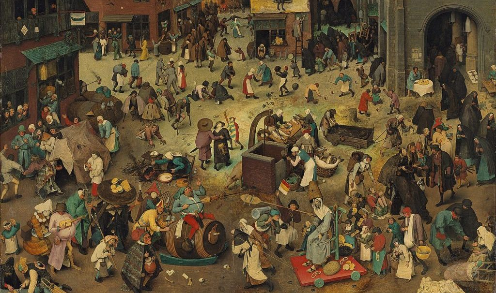 """From """"The Battle between Carnival and Lent"""" by Pieter Bruegel"""