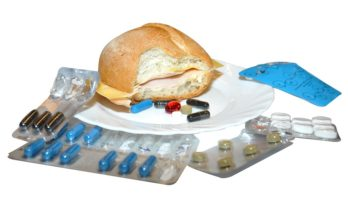 cheese roll surrounded by supplements