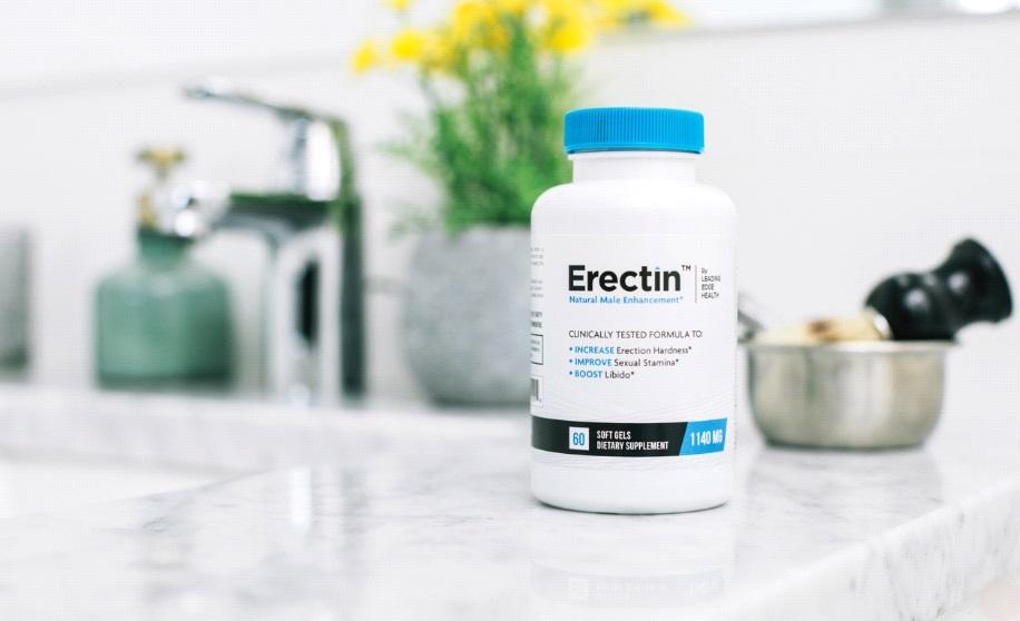 Erectin pill bottle