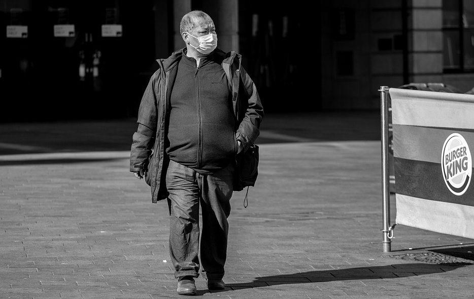 obese man on high street